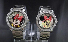 The lovely mickey watches, multicolor optional, men and women, old and young general. Free shipping