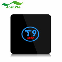 T9 TV Box Amlogic S912 Octa Core Android 6.0 Smart tv 2G/16G 2.4G/5G Dual WiFi BT4.0 1000M LAN HDMI H.265 4K Media Player PK x96