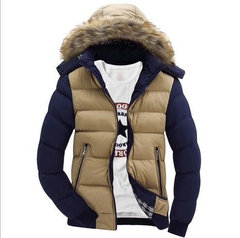 winter men cotton-padded jacket male wadded hooded teenage outwear patchwork fur collar jacket thickening plus size Parkas M-4XLОдежда и ак�е��уары<br><br><br>Aliexpress