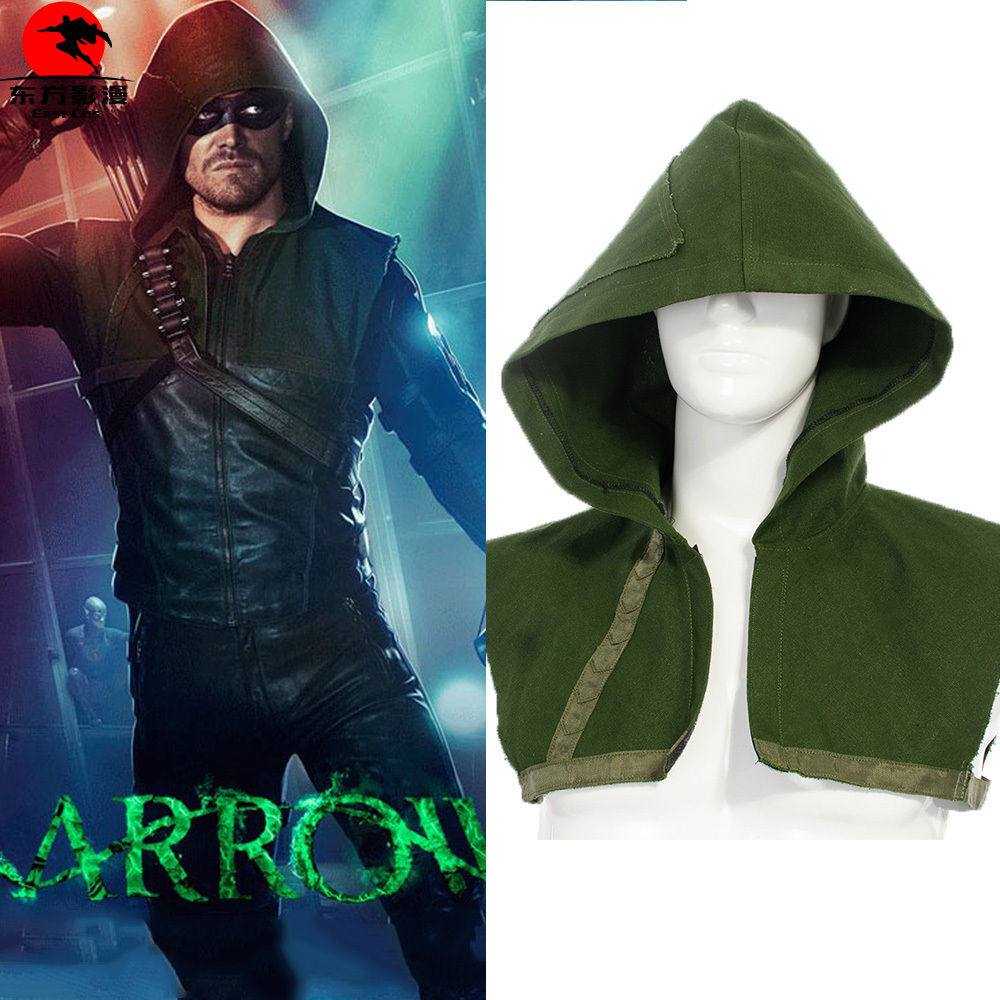Green Hood Only DC Green Arrow Oliver Queen Cosplay Hat Outfit Halloween Gift