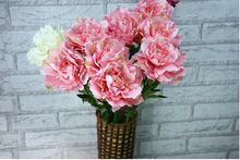 12pcs High-end simulation wedding flowers China rich flowers national flower peony flower home decoration items Crafts peony(China)