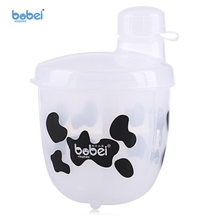 Buy Baby Portable Baby Milk Food Powder Dispenser Snack Container Rotatable 3 Grids Storage Box PP Infant Feeding Powder Practical for $4.17 in AliExpress store