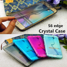 S6edge Crystal Case For Samsung Galaxy S6 edge G9250 Flip Transparent Clear Soft Silicon Cases Flexible TPU Durable Cover 6 SM(China)