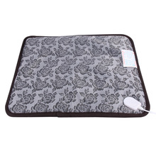 220V Pet Heating Pad Classic Pet Dog Cat Waterproof Electric Pad Heater Warmer Mat Bed Blanket Heating Pad 45cm x 45cm x 1cm