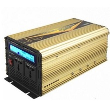 LCD display rated power 1500w surge power 3000w DC 12V to AC 220v off grid pure sine wave inverter with ups chargeing function(China)