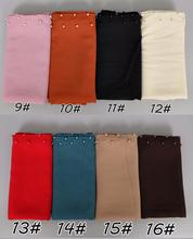 20 colors hot selling colored pearl big size high quality bubble chiffon shawls muslim wrap plain scarves/pashmina 20 pcs / lot(China)