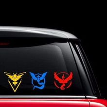 "Pokemon Go Vinyl Decal - Team Instinct, Mystic, Valor Window laptop phone tablet 2""*2"" 4""*4"" 8""*8"" 12""*12"" 24""*24""(China)"