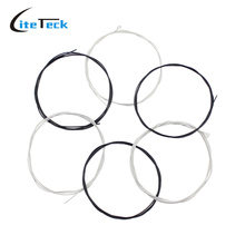 High Quality 6pcs Classical Guitar Strings String Set Black Nylon Core Silver-Plated Copper Wound 1st-6th(.028-.043)