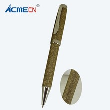 ACMECN Unique Design Gold Metal & Fabric Ballpoint Pen metal refill Branded Ball Pens for Special Store Writing Instruments Gift