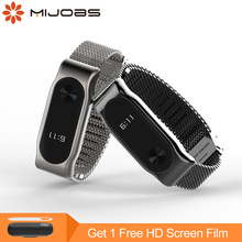Buy Mijobs Milanese Metal Strap Watch Band Screwless Stainless Steel Bracelet Strap Xiaomi Mi Band 2 Smart Watch Wristbands for $7.56 in AliExpress store
