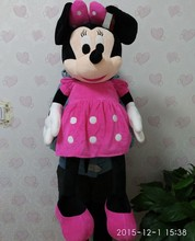 Free Shipping 100cm=39.3'' Large Minnie Mouse Stuffed Animal Toys,Giant Pink Minnie Mouse Soft Plush Toys For baby Gifts