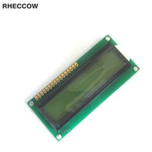 RHECCOW 3.3V 1601 16X1 16*1 80*36 Character LCD Module Display LCM Yellow Green blacklight Black character(China)