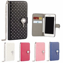 Diamond Case For iPhone 7 6S Plus SE 5 4 Glitter Cover Women Luxury Bling Wallet Phone Bag Etui For iPhon 4S 5S 6 S 7 Plus Coque(China)