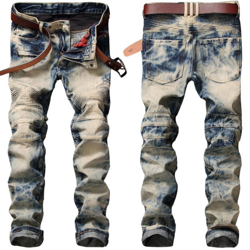 2017 New Brand Jeans Retro Nostalgia Straight Denim Jeans Men Plus Size 28-38 Casual Men Long Pants Trousers Brand Biker JeanОдежда и ак�е��уары<br><br><br>Aliexpress
