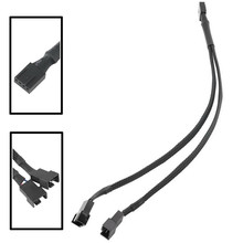 Best price 4-Pin Fan 4P Cable One Point Two PMW Fan Y Splitter Black Sleeved Extension Cable