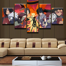 Canvas Wall Art Modern Pictures Home Decoration 5 Panels Naruto Characters Painting Modular HD Prints Anime Posters Framework
