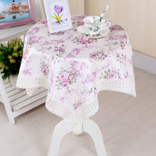1PC European Style Square 80*80cm Flower Lace Cotton Tablecloth Cover for Small Tea Table Bedside Cupboard Household Appliances
