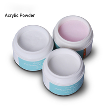 Clear Transparent Pink Color Acrylic Crystal Powder Nail Manicure Polymer Builder for Nail Art Design