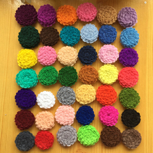 300pcs/lot DHL Free Shipping 1'' Tiny Felt Flower Without Clips Hair Accessories Children Hair Flower -U PICK  COLORS