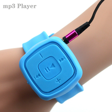Fashion Portable wrist watch style Mp3 Player Sports Mini MP3 Music Media Player walkman lettore USB MP3 With TF Card Slot(China)