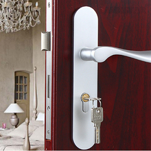 Modern Minimalist Space Aluminum Door Lock Handle Locks Indoor Mechanical Lockset Room Door-locks