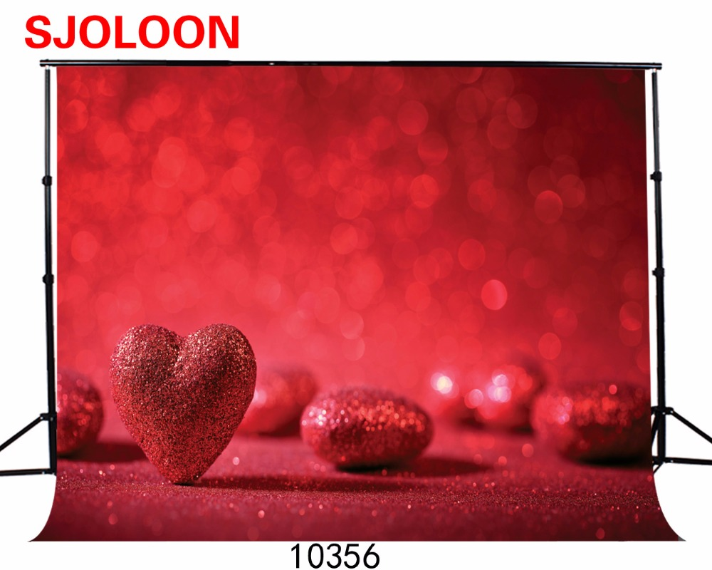 SJOLOON Heart picture background  Valentines Day background Vinyl backdrops for photography Photography-studio-backdrop 210x150<br><br>Aliexpress