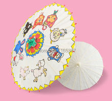 Blank unpainted Chinese traditional craft oil paper umbrella party kids DIY kits favor school kindergarten chiid paint coloring(China)