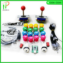 2 Player DIY Arcade Parts PC PS3 USB To Jamma Arcade Control Board Bundles Kit With Joystick,Pushbutton,Microswitch,