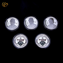 Wholesale Luis Rodriguez Silver Baseball Challenge Coin - 2010 Puerto Rico Back Design with Plastic Case for Souvenir