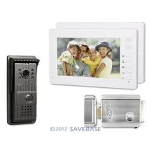 "HOMSECUR 7"" Video Security Door Phone with Intra-monitor Audio Intercom for Home Security + Electric Lock(China)"