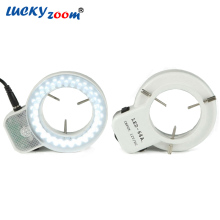 Luckyzoom Brand Professional 64pcs led light  Microscope LED illumination + adaptor led light  26000lux   Through matching