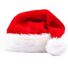 Home Wider Fashion Santa Claus Hat Plush Velvet Christmas Xmas Holiday Adult Costume Sep927 Drop Shipping