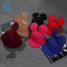 7 kinds Mickey Mouse Cap with Ears Baby Child Cartoon Hat Travel Baseball Caps Boys Girls Kids Tide Hats Fashion Cute