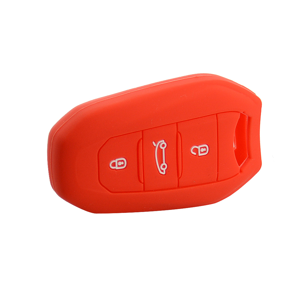 3 buttons silicone car key shell for Citroen 5