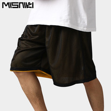 MISNIKI 2017 Hot High Quality Reversible Casual Shorts Men Summer Double-Way Breathable Basketballs Shorts(China)