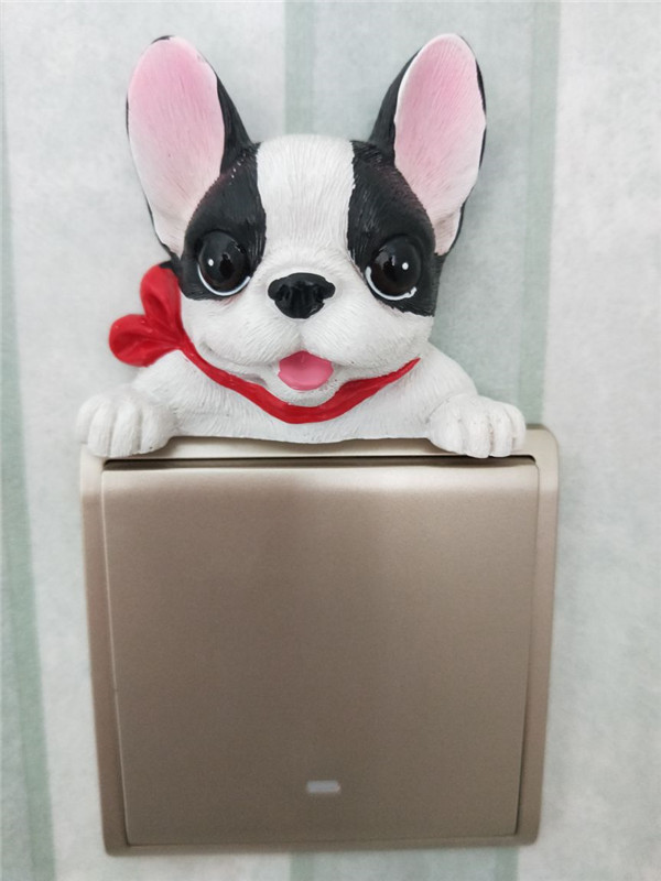 French Bulldog cute puppy dogs resin switch stickers fridge magnets - Buyer's Show 18
