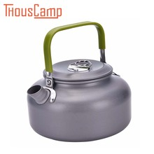 Aluminum 0.8L Portable Ultra-light Teapot Hiking Picnic Camping Survival Coffee Water Teapot Kettle Pot for Travel Cooking(China)