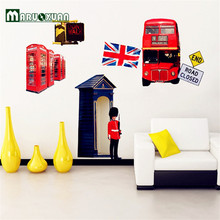 Factory Direct Wholesale Personalized Study Bedroom Living Room Decorative Wall Papering London Street Scene