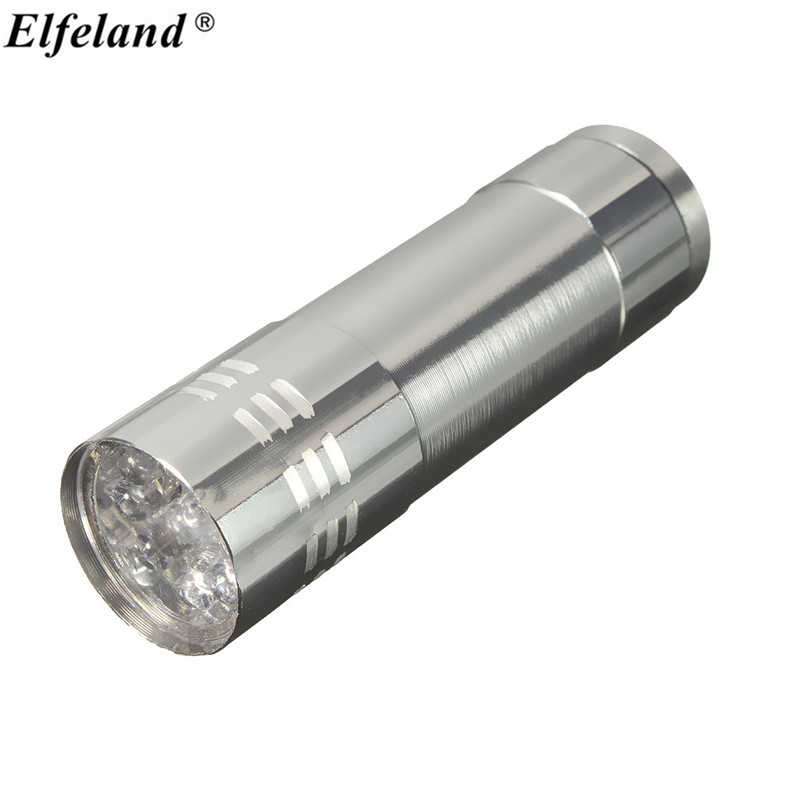 Elfeland Mini 9 LED Light Egg Candler Incubator Candling Lamp Dark Hatching Eggs Light AAA Torch Flashlight For Camping Outdoor(China (Mainland))