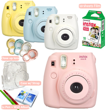 Fujifilm Instax Mini 8 Camera+ Fuji 10 Photos Instant Mini White Film + Accessories Close up lens, Crystal Hard Case + Free Gift
