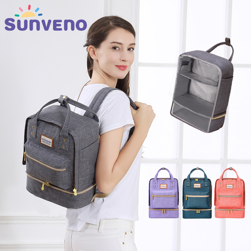 SUNVENO New Thermal Insulation Bag Baby Feeding Bottle Cooler Bags Backpack  Lunch Box for Baby Care Mother &amp; Kids<br>