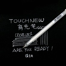TOUCHNEW 1 pcs 0.8mm Highlight Liner Sketch Markers White Paint Marker Pen White Gel Pen for Art Marker Manga Painting Supplies