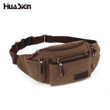 Huasign Vintage Canvas Waist Packs Multifunctional Men Belt Bag Casual Small Capacity Portable Men and Women Waist Bag