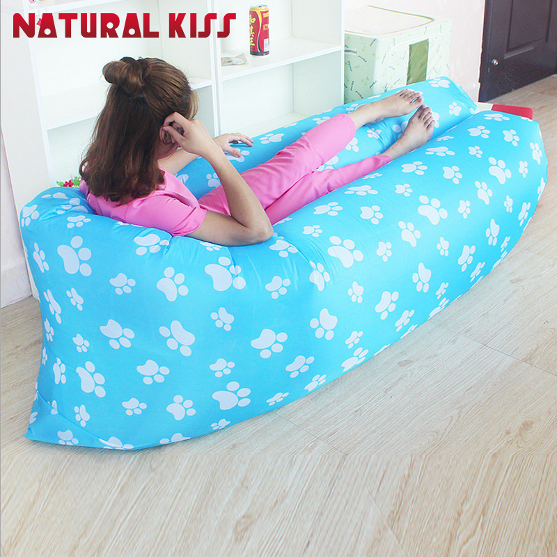 High quality Portable Inflatable Lazy Sofa Sleeping Lazy Bag Beach Sofa Lounger air Bean Bag Chair inflatable Camping air Sofa<br>