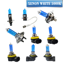 Super White Halogen Bulb H1 H3 H4 H7 H8 H9 H11 9005 HB3 9006 HB4 12V 55W / 100W 5000K Quartz Glass Dark Blue Car Headlight Lamp