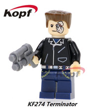 Single Sale The Antiheroes Terminator Chemistry Magic Teacher Guy Fawkes Super Heroes Building Blocks Toys for children KF274(China)