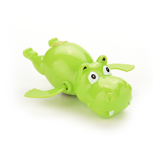 Lovely Child Baby Kid Hippo Swimming Toys Plastic Wind Up River Horse Bath Toys Educational Toys(China)