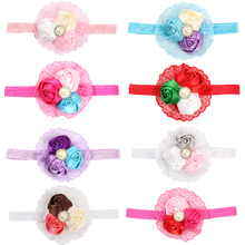 8PC/lot Baby Hair Bands Flower Headband Solid Color Girl Headwear Children Infant Baby Hairband Hair Accessories Elasticity T-02(China)