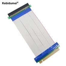 Kebidumei PCI-E 16X to 16X riser card adapter extender cable PCI E 16 X Pci Express Flexible riser 20CM 1X 4X 8X 16X(China)