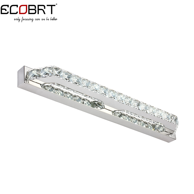 ECOBRT LED Bathroom Wall Light 14W 2835 SMD White Crystal Mirror Front Lights in Bathroom Wall Sconces110V / 220V AC